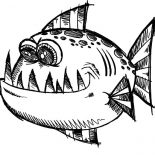 Monster Fish, Poisonous Monster Fish Coloring Pages: Poisonous Monster Fish Coloring Pages