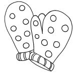 Mittens, Polkadot Mittens Coloring Pages: Polkadot Mittens Coloring Pages
