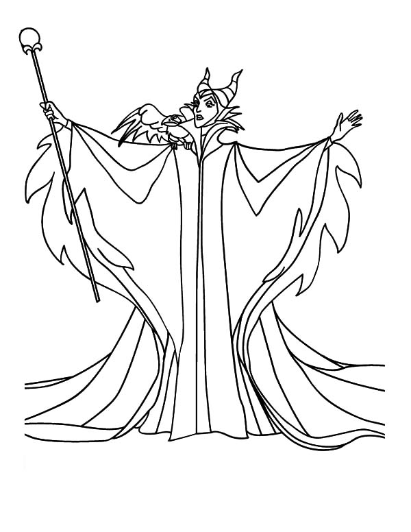Disney Villain Character Maleficent Coloring Pages | Color ...