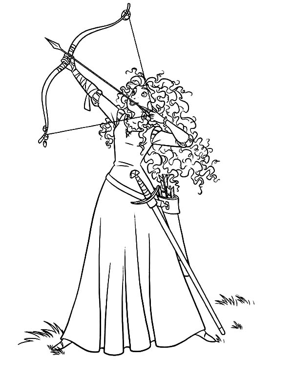 Merida, : Princess Merida Coloring Pages