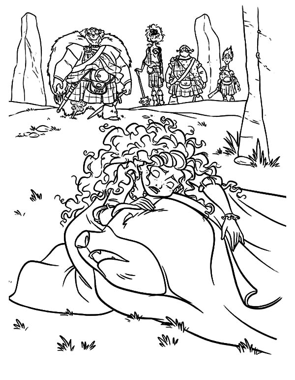 Merida, : Princess Merida Crying Over Her Mother Coloring Pages
