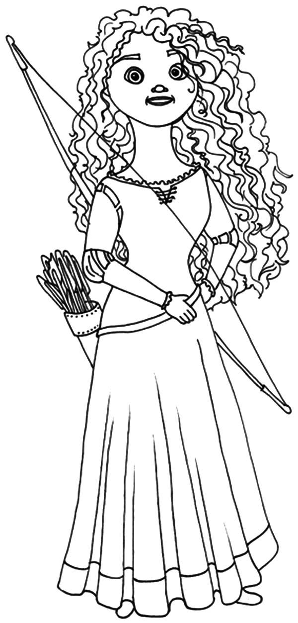 Merida, : Princess Merida Doll Coloring Pages