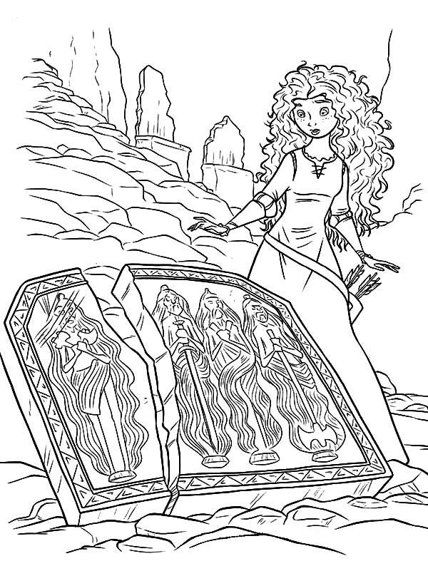 Merida, : Princess Merida Found Broken Tapestry Coloring Pages