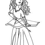 Merida, Princess Merida Prepare With Her Arrow And Bow Coloring Pages: Princess Merida Prepare with Her Arrow and Bow Coloring Pages