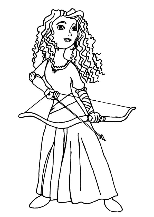 Merida, : Princess Merida Prepare with Her Arrow and Bow Coloring Pages