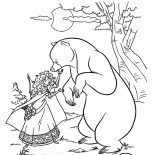 Merida, Princess Merida Saw Her Mother Turned Into A Bear Coloring Pages: Princess Merida Saw Her Mother Turned into a Bear Coloring Pages