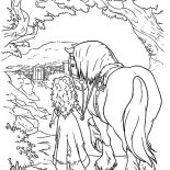 Merida, Princess Merida Take Her Horse Home Coloring Pages: Princess Merida Take Her Horse Home Coloring Pages
