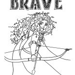 Merida, Princess Merida In Brave The Movie Coloring Pages: Princess Merida in Brave the Movie Coloring Pages