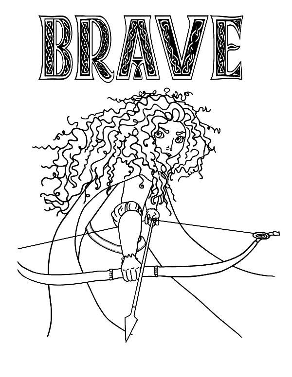 Merida, : Princess Merida in Brave the Movie Coloring Pages