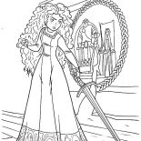 Merida, Princess Merida Is So Mad To Her Mother Coloring Pages: Princess Merida is So Mad to Her Mother Coloring Pages