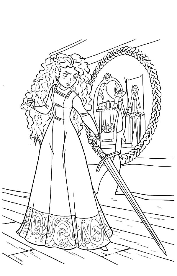 Merida, : Princess Merida is So Mad to Her Mother Coloring Pages