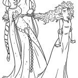 Merida, Queen Elinor Comb Merida Hair Coloring Pages: Queen Elinor Comb Merida Hair Coloring Pages