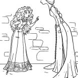 Merida, Queen Elinor And Princess Merida Arguing Coloring Pages: Queen Elinor and Princess Merida Arguing Coloring Pages
