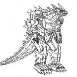 Godzilla, Robot Godzilla Coloring Pages: Robot Godzilla Coloring Pages