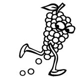 Grapes, Running Away Grapes Coloring Pages: Running Away Grapes Coloring Pages
