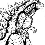 Godzilla, Sea Monster Godzilla Coloring Pages: Sea Monster Godzilla Coloring Pages