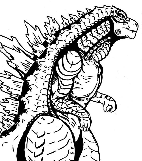 Godzilla, : Sea Monster Godzilla Coloring Pages
