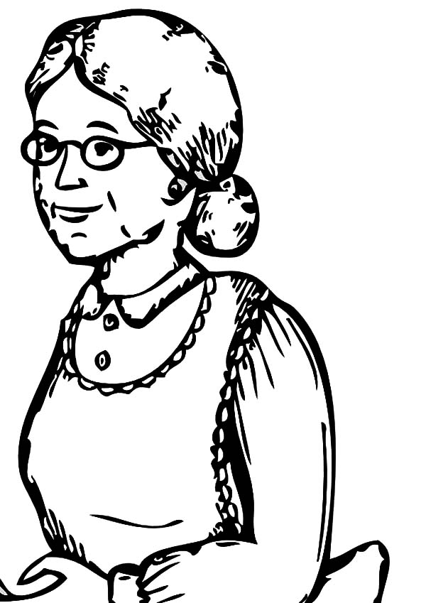 Grandmother, : Sketch of My Grandmother Coloring Pages