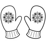 Mittens, Snowflake Mittens Coloring Pages: Snowflake Mittens Coloring Pages