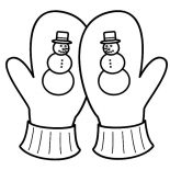 Mittens, Snowy Season Mittens Coloring Pages: Snowy Season Mittens Coloring Pages
