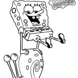 Gary, Spongebob Jump Over Gary The Snail Coloring Pages: Spongebob Jump Over Gary the Snail Coloring Pages