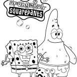 Gary, Spongebob Squarepants And Patrick Taking Picture With Gary The Snail Coloring Pages: Spongebob Squarepants and Patrick Taking Picture with Gary the Snail Coloring Pages