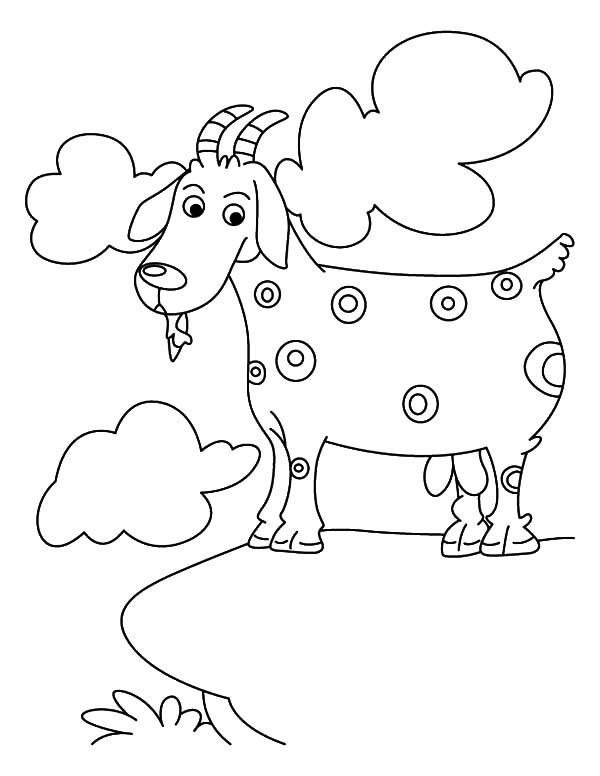 Mountain Goat, : Spotted Mountain Goat Coloring Pages