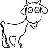 Goat, Surprised Goat Coloring Pages: Surprised Goat Coloring Pages
