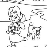 Mary Had a Little Lamb, Sweet Smile Mary Had A Little Lamb Coloring Pages: Sweet Smile Mary Had a Little Lamb Coloring Pages