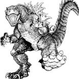 Godzilla, Terrifying Godzilla Coloring Pages: Terrifying Godzilla Coloring Pages