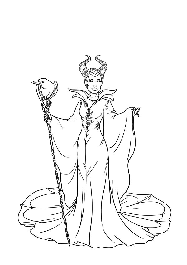 Maleficent The Movie Coloring Pages | Color Luna