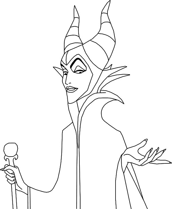 Maleficent, : The Queen of the Moors Maleficent Coloring Pages