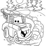 Mater, Tow Mater Drifting Coloring Pages: Tow Mater Drifting Coloring Pages