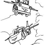 Mater, Tow Mater Flying Coloring Pages: Tow Mater Flying Coloring Pages