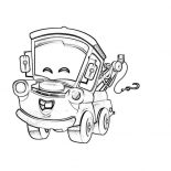 Mater, Tow Mater Happy Face Coloring Pages: Tow Mater Happy Face Coloring Pages