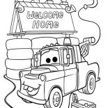 Mater, Tow Mater House Coloring Pages: Tow Mater House Coloring Pages