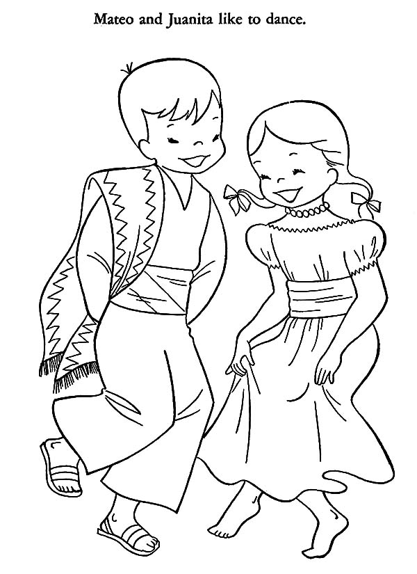 Mexican Dress, : Traditional Mexican Dress Coloring Pages
