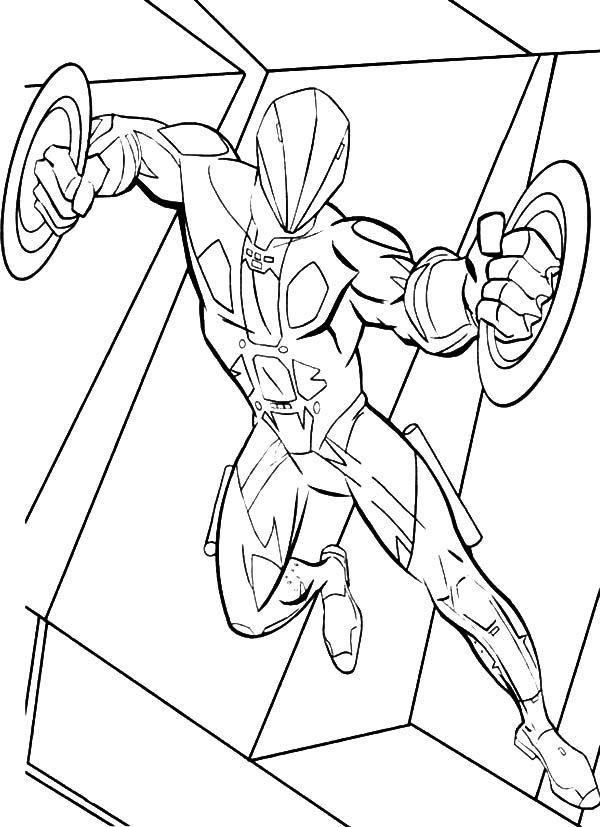 Tron, : Tron Double Blade Enemy Weapon Coloring Pages