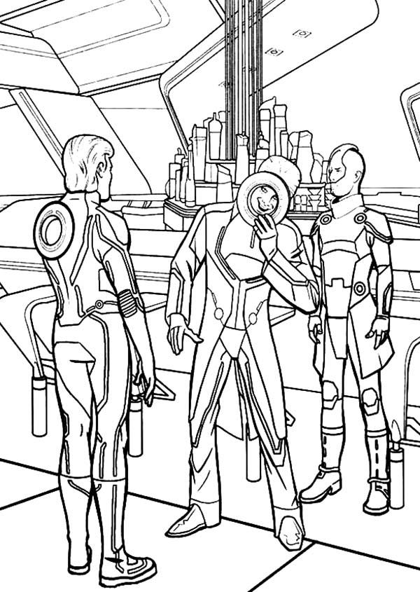Tron, : Tron Enemy Making Evil Plan Coloring Pages
