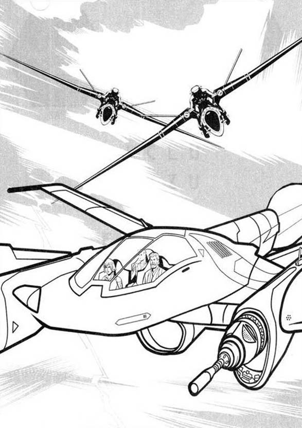 Tron, : Tron Legacy Chased by Flying Enemy Coloring Pages