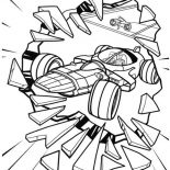 Tron, Tron Legacy Crashing Window Glass Coloring Pages: Tron Legacy Crashing Window Glass Coloring Pages