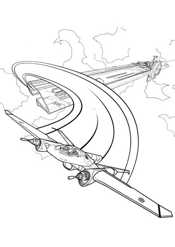 Tron, : Tron Legacy Escape with Airplane Coloring Pages