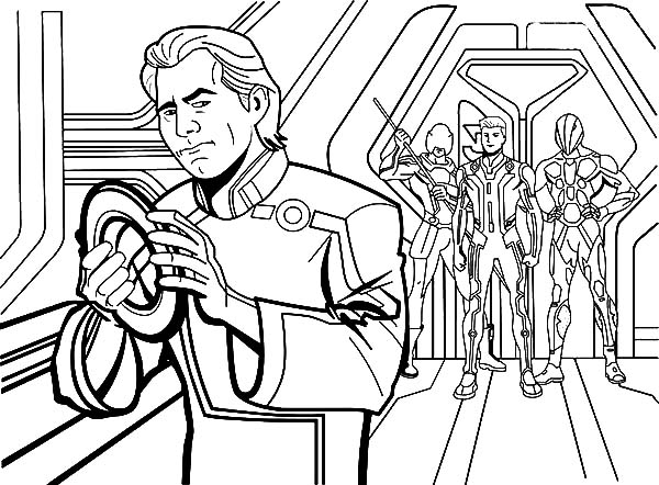 Tron, Tron Legacy Kevin Flynn Betrayed By CLU Coloring Pages: Tron Legacy Kevin Flynn Betrayed by CLU Coloring Pages