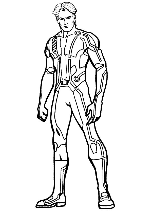 Tron, : Tron Legacy Kevin Flynn Coloring Pages