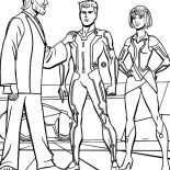 Tron, Tron Legacy Kevin Flynn Is Proud Of His Son Coloring Pages: Tron Legacy Kevin Flynn is Proud of His Son Coloring Pages