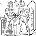 Tron, Tron Legacy Quorra Get Caught Coloring Pages: Tron Legacy Quorra Get Caught Coloring Pages