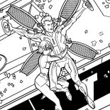 Tron, Tron Legacy Quorra Hold CLU Tight Coloring Pages: Tron Legacy Quorra Hold CLU Tight Coloring Pages