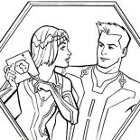 Tron, Tron Legacy Quorra Show Sam Flynn Disk Coloring Pages: Tron Legacy Quorra Show Sam Flynn Disk Coloring Pages