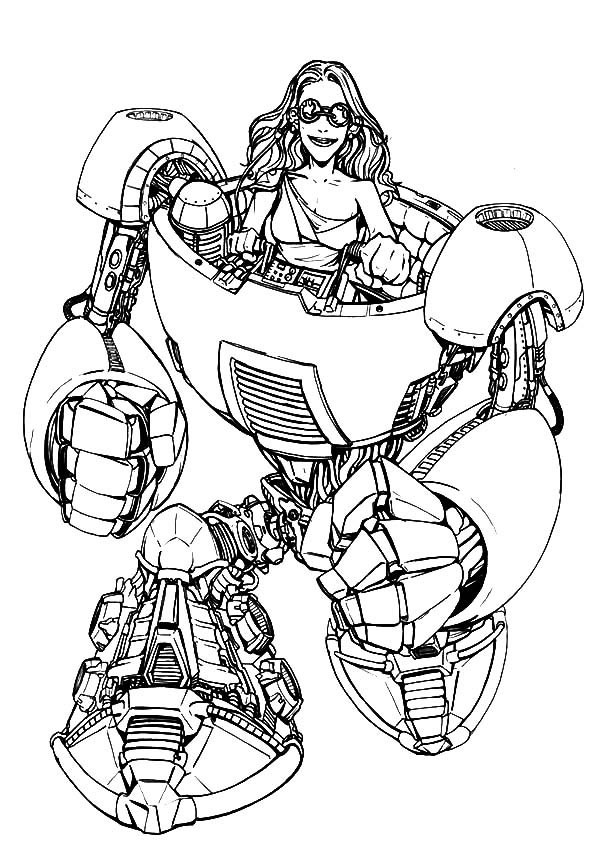 Tron, Tron Legacy Riding Robot Coloring Pages: Tron Legacy Riding Robot Coloring Pages