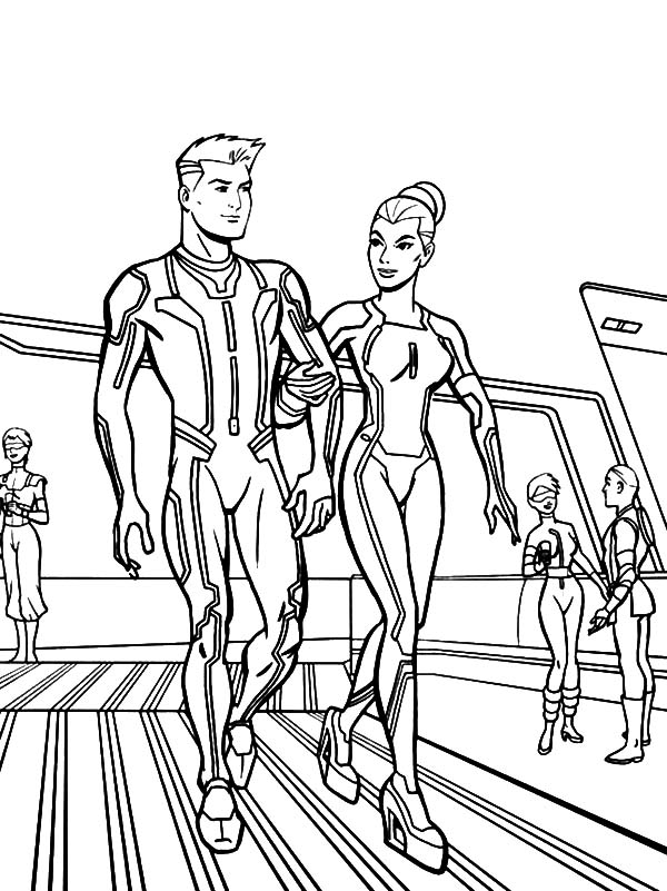 Tron, : Tron Legacy Take a Tour Coloring Pages